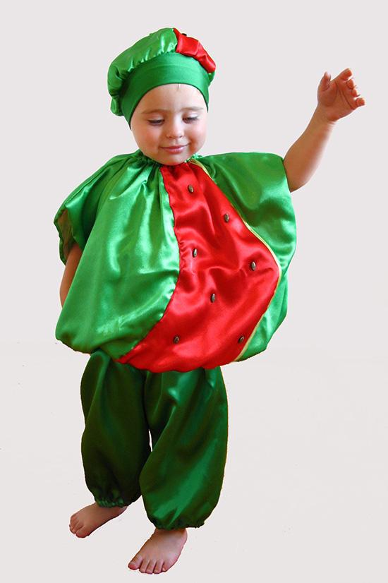 Костюм арбуза для девочки своими руками