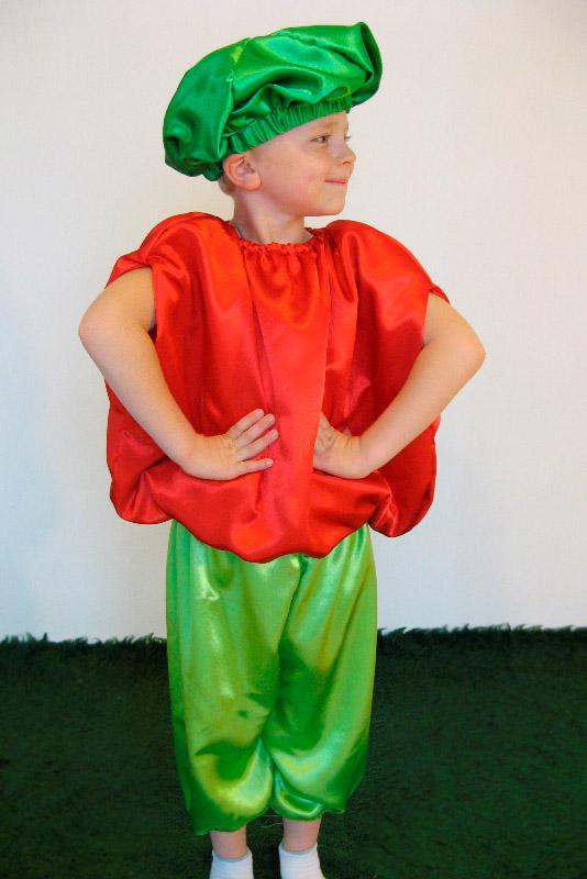 Как сделать костюм помидора для мальчика